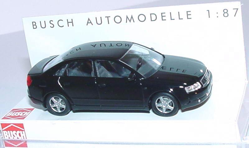 Foto 1:87 Audi A4 (B6) schwarz Busch 49200