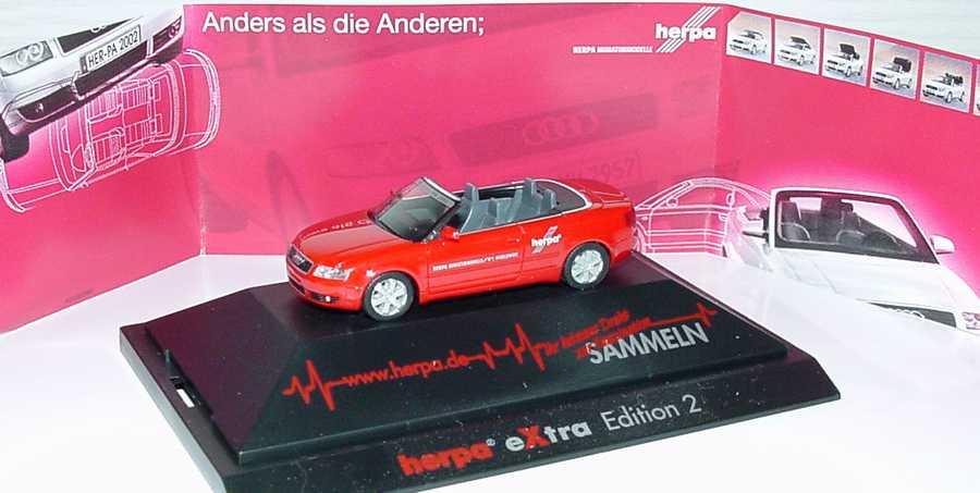 Foto 1:87 Audi A4 Cabrio 3.0 19. Herpa IAA 2002, herpa eXtra Edition 2 herpa 257336