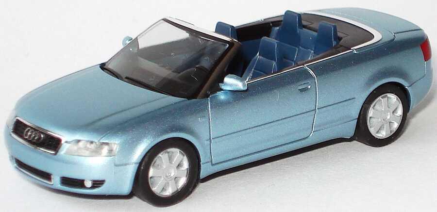 Foto 1:87 Audi A4 Cabrio 3.0 B6 blausilber-met. ohne PC-Box - herpa 101356