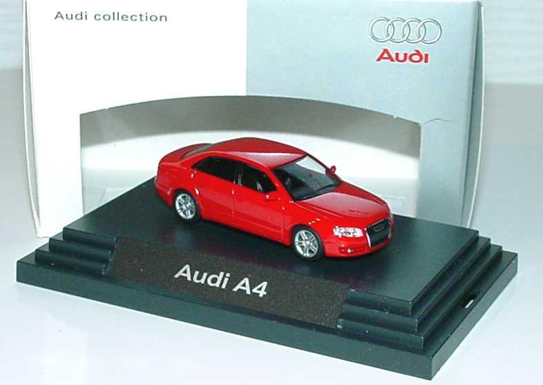 Foto 1:87 Audi A4 3.2 quattro B7 brillantrot - Werbemodell - Busch 5010404122