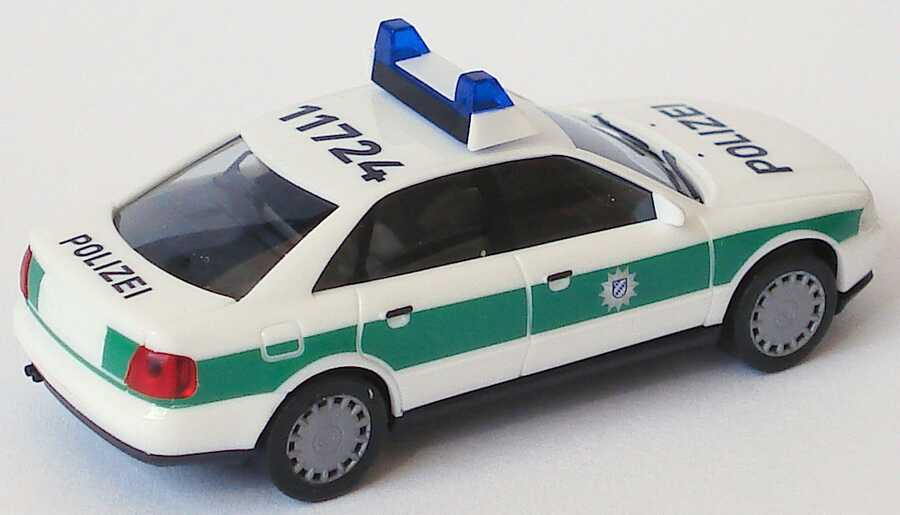 Foto 1:87 Audi A4 (B5) Polizei bayrisch 11724 herpa 043922