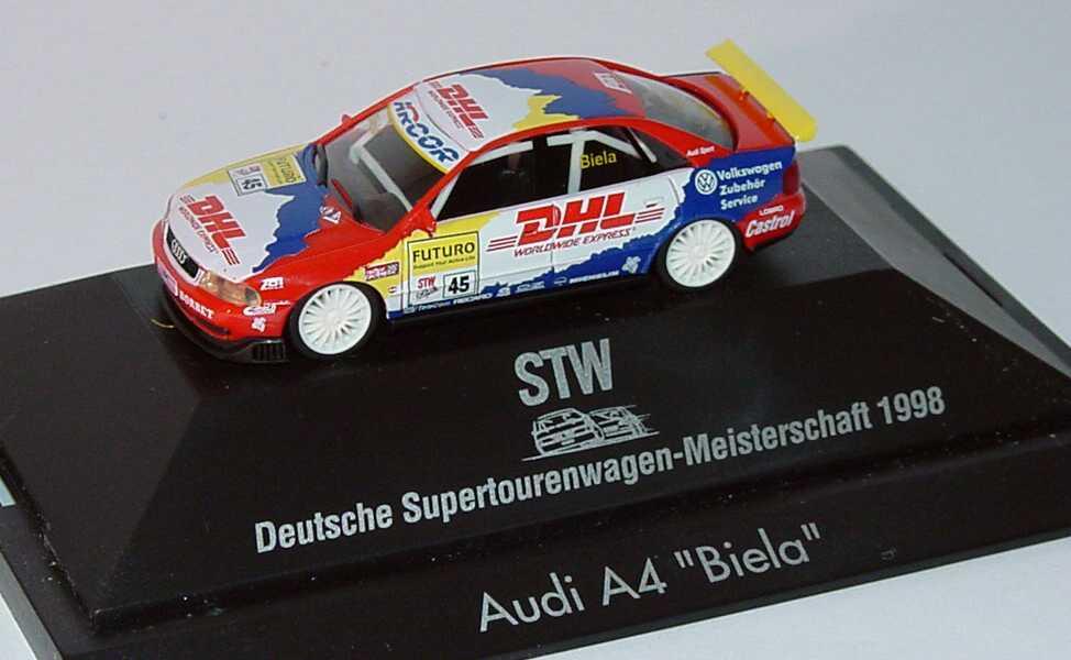 Foto 1:87 Audi A4 STW 1998 Abt, DHL Nr.45, Biela herpa 037655