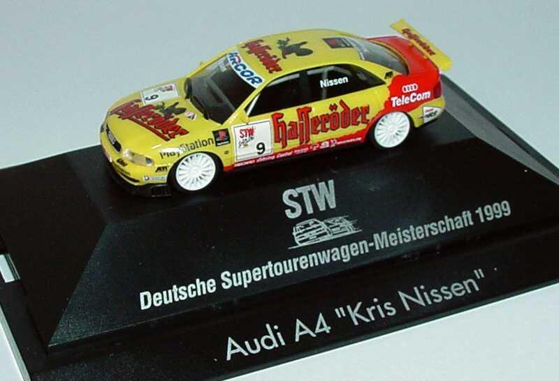 Foto 1:87 Audi A4 STW 1999 Abt, Hasseröder Nr.9, Kris Nissen herpa 037761