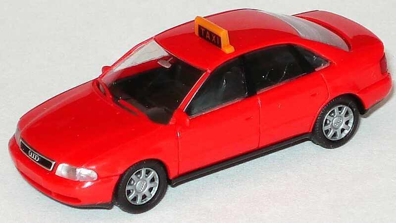 Foto 1:87 Audi A4 (B5) Taxi rot (Schweiz) Rietze 30651