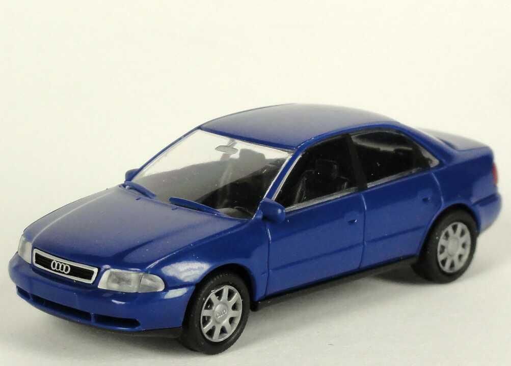 Foto 1:87 Audi A4 (B5) dunkelblau Werbemodell Rietze