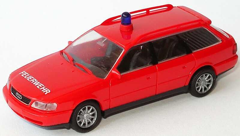 Foto 1:87 Audi A6 Avant (C4) Feuerwehr, rot Rietze