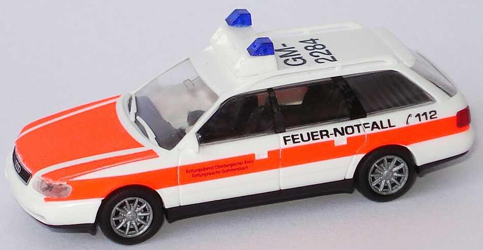Foto 1:87 Audi A6 Avant (C4) Rettungsdienst Oberbergischer Kreis, Rettungswache Gummersbach, Feuer-Notfall, GM-2284 Rietze