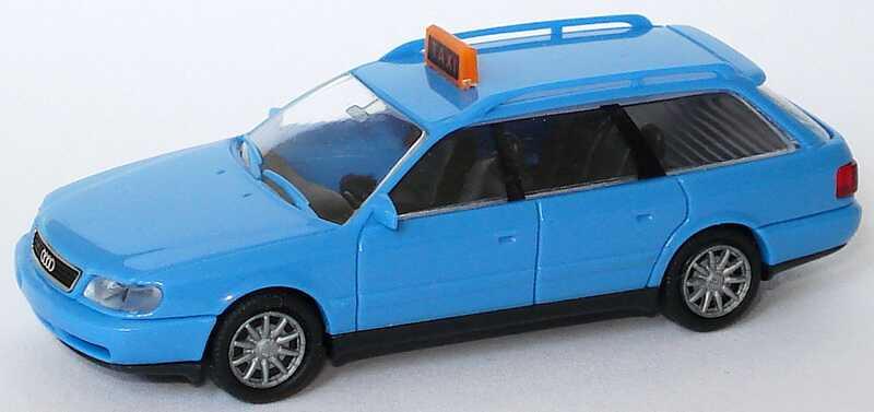 Foto 1:87 Audi A6 Avant (C4) Taxi blau Rietze