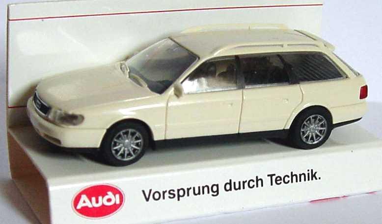 Foto 1:87 Audi A6 Avant (C4) cremeweiß Werbemodell Rietze