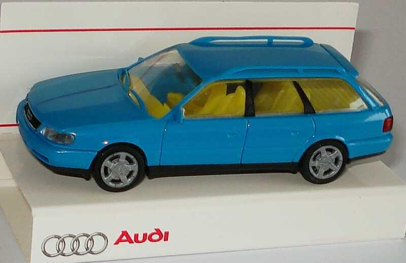 Foto 1:87 Audi A6 Avant (C4) türkisblau Werbemodell Rietze