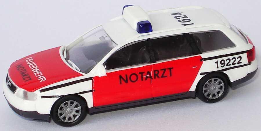 Foto 1:87 Audi A6 Avant (C5) Feuerwehr Notarzt, 1624 Rietze