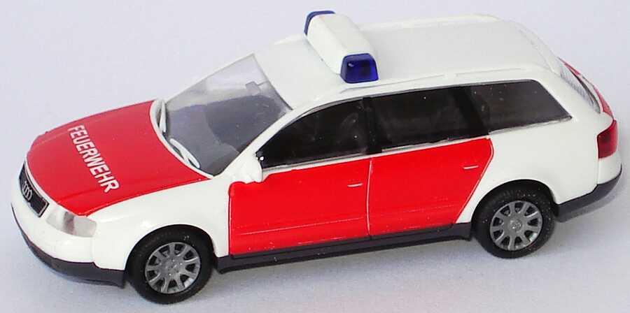 Foto 1:87 Audi A6 Avant (C5) Feuerwehr rot/weiß Rietze