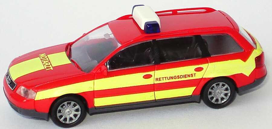 Foto 1:87 Audi A6 Avant (C5) NEF Feuerwehr Chemnitz Notarzt Rietze 50933