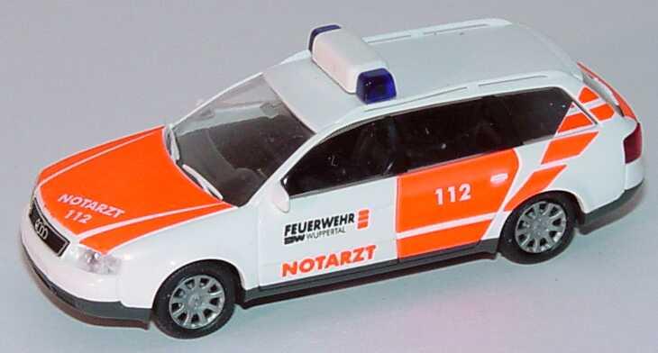 Foto 1:87 Audi A6 Avant (C5) Notarzt Feuerwehr Wuppertal Rietze