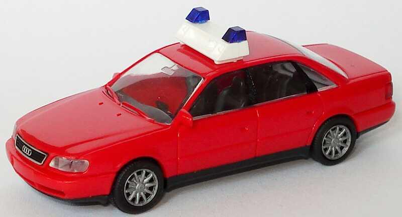 Foto 1:87 Audi A6 (C4) Feuerwehr rot Rietze