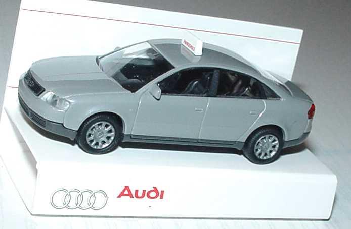 Foto 1:87 Audi A6 (C5) Fahrschule silbergrau-met. Werbemodell Rietze 20000000060