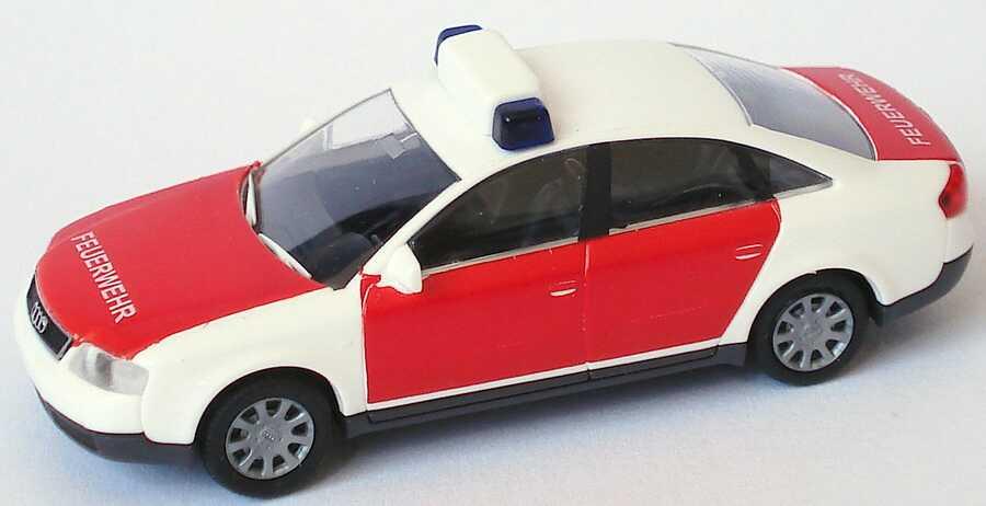 Foto 1:87 Audi A6 (C5) Feuerwehr rot/weiß Rietze