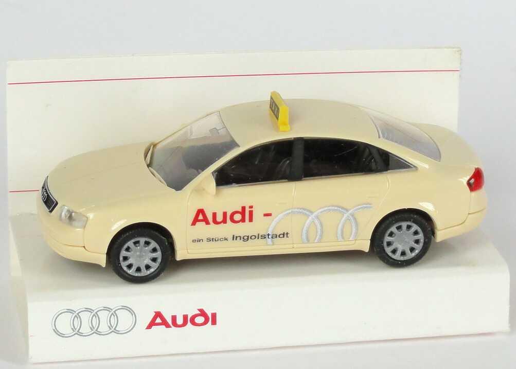Foto 1:87 Audi A6 (C5) Taxi Audi - Ein Stück Ingolstadt, kleine Verpackung Werbemodell Rietze