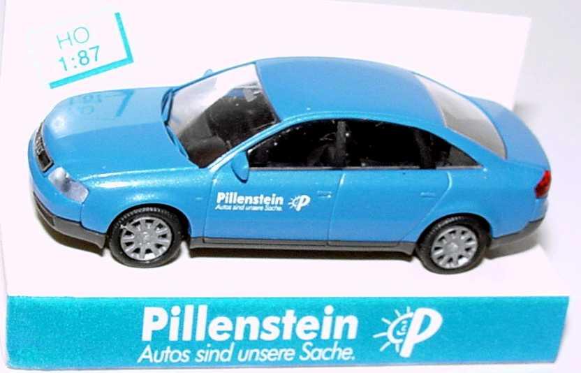 Foto 1:87 Audi A6 (C5) azurblau-met. Pillenstein - Autos sind unsere Sache Rietze