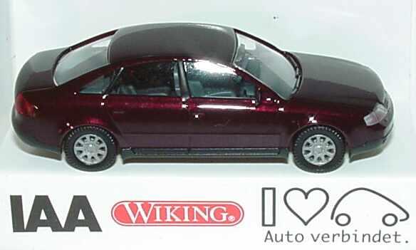 Foto 1:87 Audi A6 (C5) dunkelweinrot-met. 57. IAA 1997 Wiking 12402