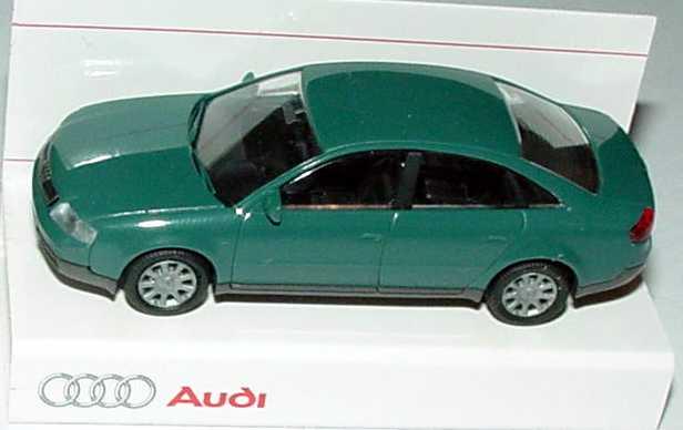 Foto 1:87 Audi A6 (C5) jaspisgrün-met. Werbemodell Rietze