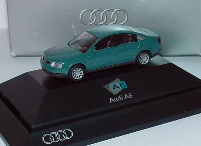 Foto 1:87 Audi A6 (C5) petrolblau Audi A6 Werbemodell Rietze