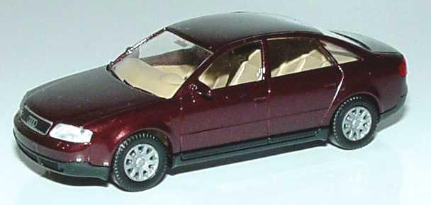 Foto 1:87 Audi A6 (C5) weinrot-met. Wiking