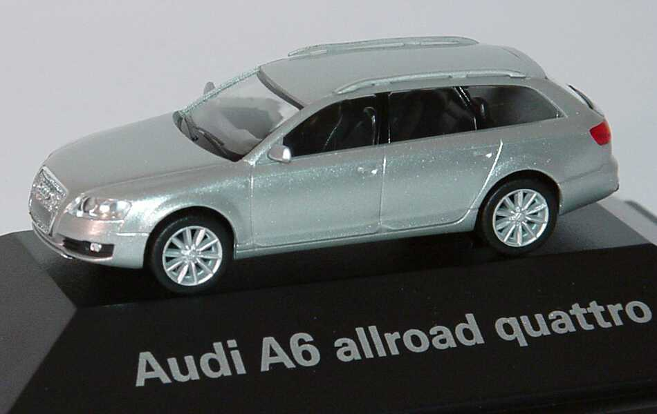 Foto 1:87 Audi A6 allroad quattro 2006 lichtsilber-met. Werbemodell herpa 5010506612