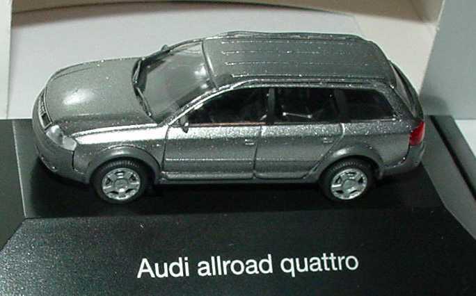 Foto 1:87 Audi A6 allroad quattro (C5) atlasgrau-met. Werbemodell Rietze 5010006622