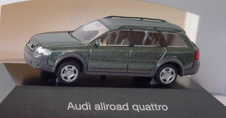 Foto 1:87 Audi A6 allroad quattro (C5) hochlandgrün-met. Werbemodell Rietze 5010006612