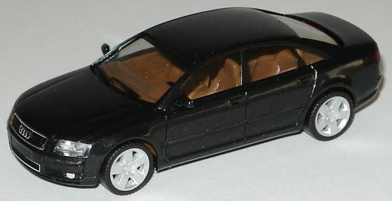 Foto 1:87 Audi A8 Mod. 2003 ebonyschwarz-met. herpa