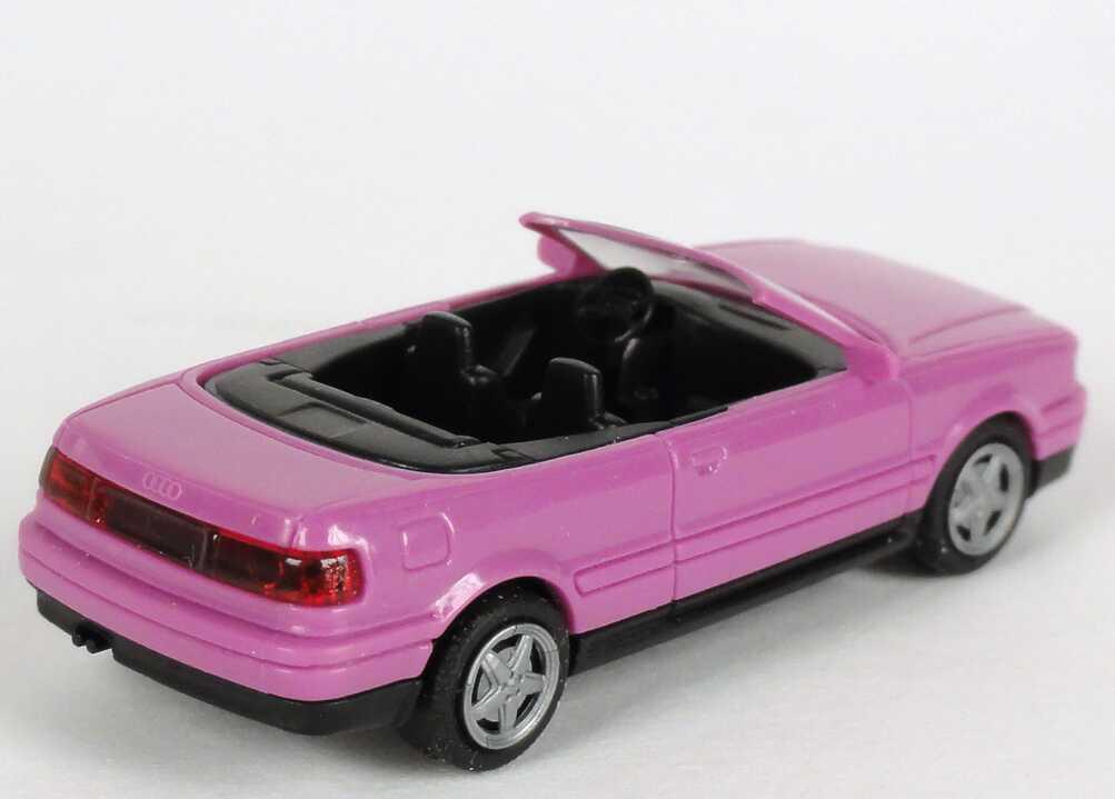 Foto 1:87 Audi Cabrio Typ P3 pink Verpackungsaufdruck Vorsprung durch Technik Audi Werbemodell Rietze 20000000052004
