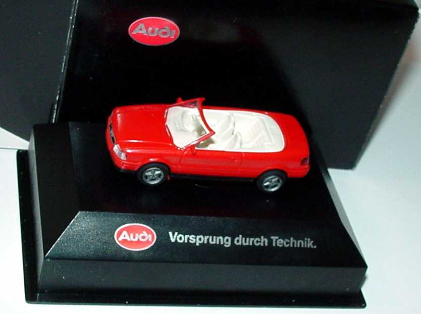 Foto 1:87 Audi Cabrio rot Werbemodell (in Brekina-Box) Rietze