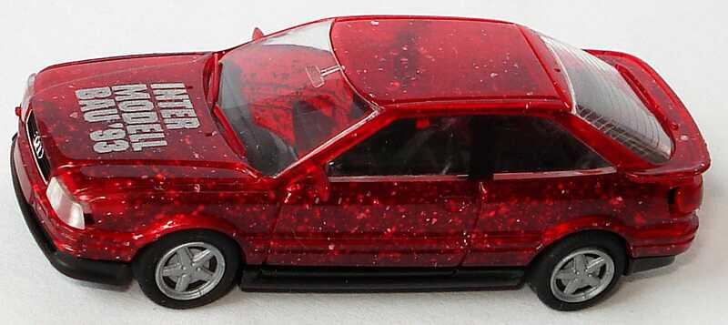 Foto 1:87 Audi Coupé S2 glitterrot Intermodellbau ´93 Rietze