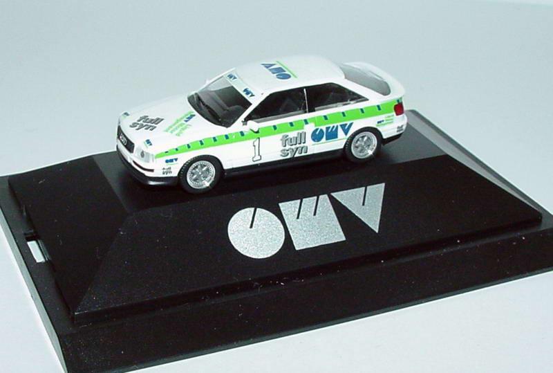 Foto 1:87 Audi Coupé S2 OMV full syn Nr.1 Rudi Stohl - herpa 180931