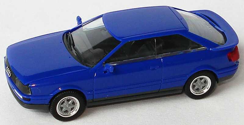 Foto 1:87 Audi Coupé quattro blau (Felgen 2teilig) herpa 025126