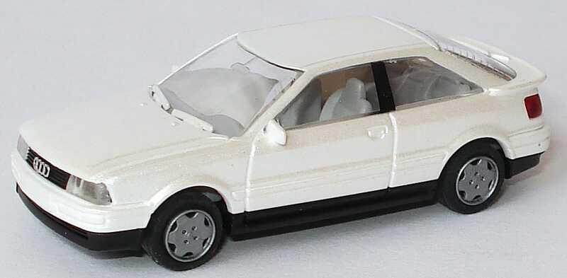 Foto 1:87 Audi Coupé perlmuttweiß-met. Rietze