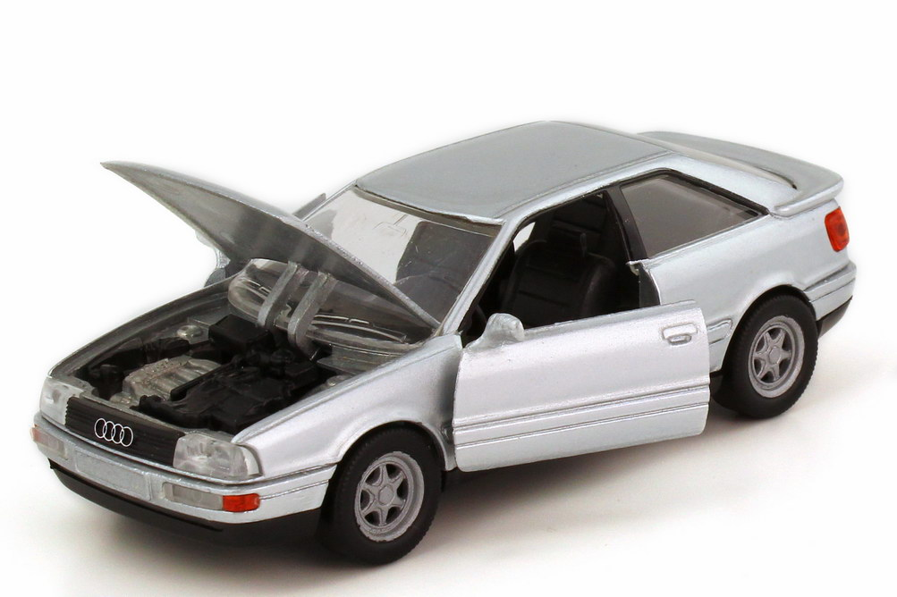 Foto 1:43 Audi Coupé quattro 1988 Typ B3 silber-met. Beulenhaube - Schabak