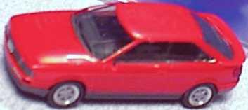Foto 1:87 Audi Coupé quattro tomatenrot herpa