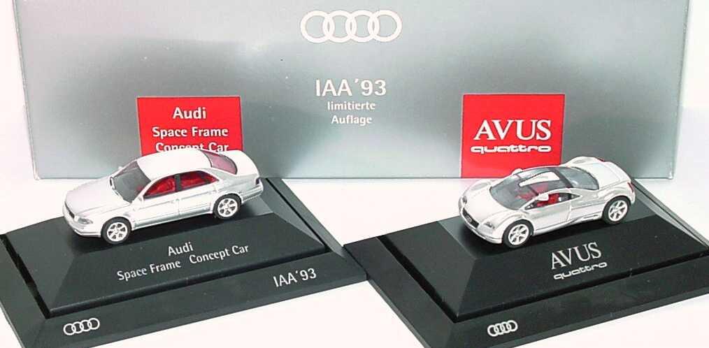Foto 1:87 Audi IAA ´93 (Audi Space Frame Concept Car + Audi Avus quattro) Werbemodell Rietze