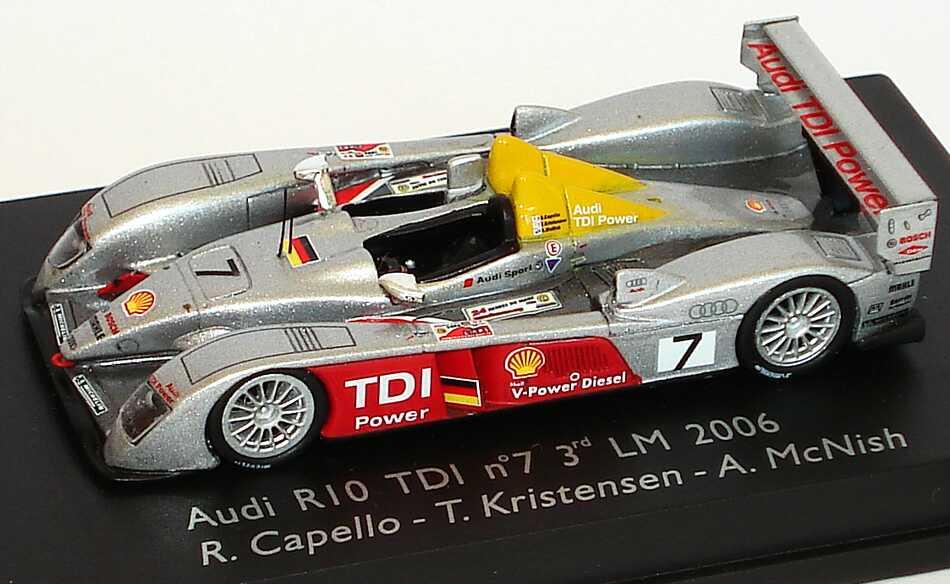 Foto 1:87 Audi R10 TDI 24h von Le Mans 2006 Nr.7, Capello/Kristensen/McNish Spark 87S003