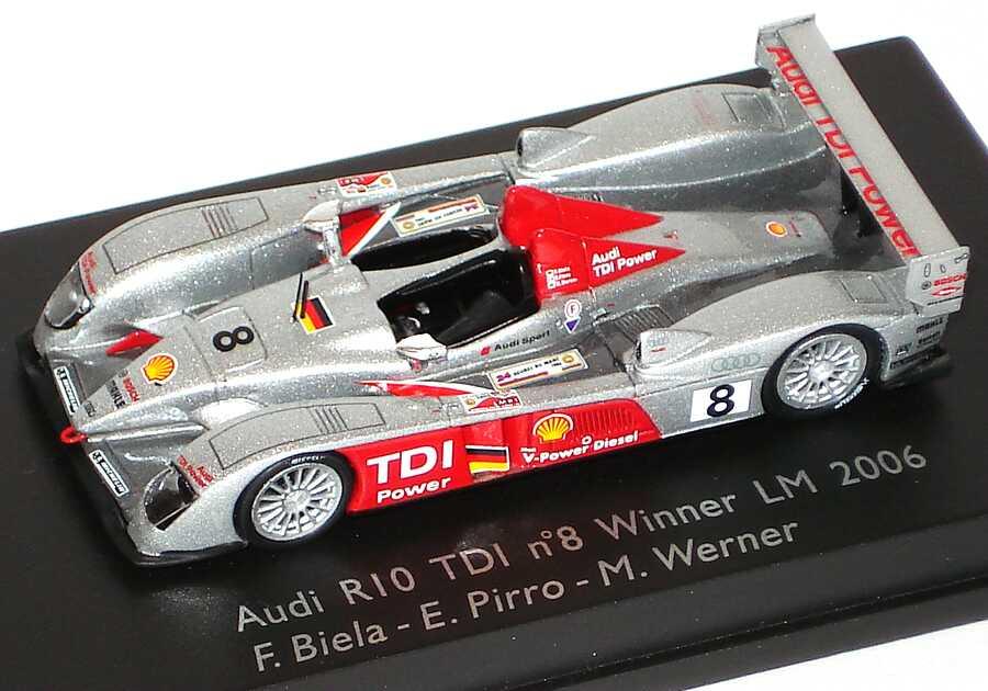 Foto 1:87 Audi R10 TDI 24h von Le Mans 2006 Nr.8 Biela/Pirro/Werner, Siegerfahrzeug Spark 87S004