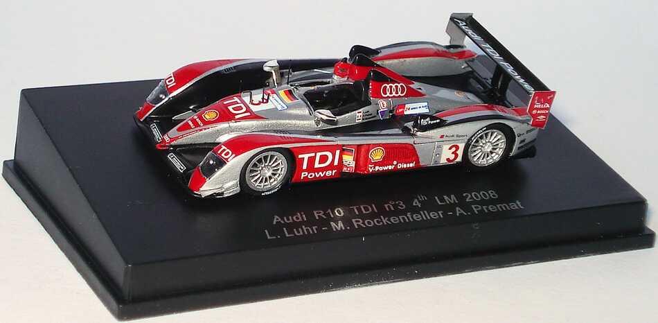 Foto 1:87 Audi R10 TDI 24h von Le Mans 2008 Nr.3, Luhr / Premat / Rockenfeller (4. Platz) Spark 87S095