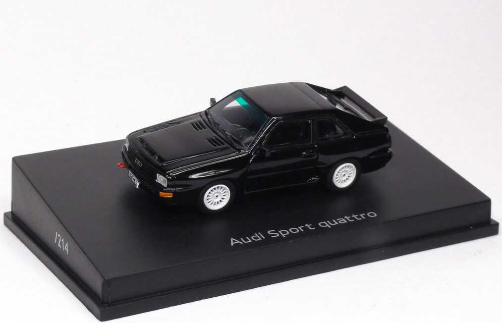 Foto 1:87 Audi Sport quattro schwarz, 1 of 214 Werbemodell Spark 93440