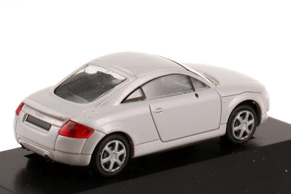 Foto 1:87 Audi TT Coupé (8N) mit Heckspoiler grau AARU Unfallforschung Werbemodell Rietze