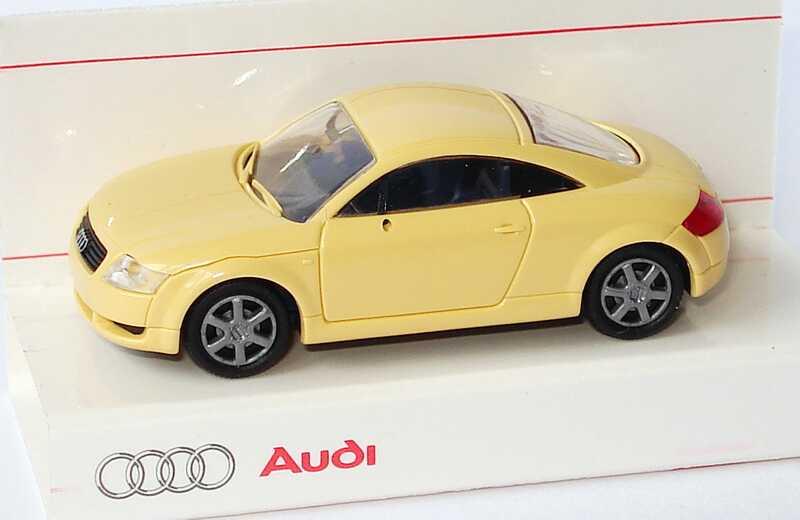 Foto 1:87 Audi TT Coupé (8N) beige Werbemodell Rietze 5019800412