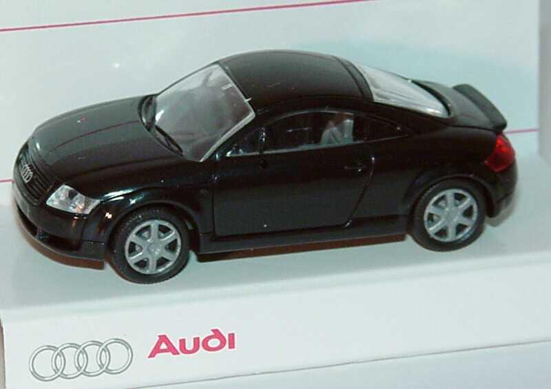 Foto 1:87 Audi TT Coupé (8N) mit Heckspoiler ebonyschwarz Werbemodell Rietze 5019800412