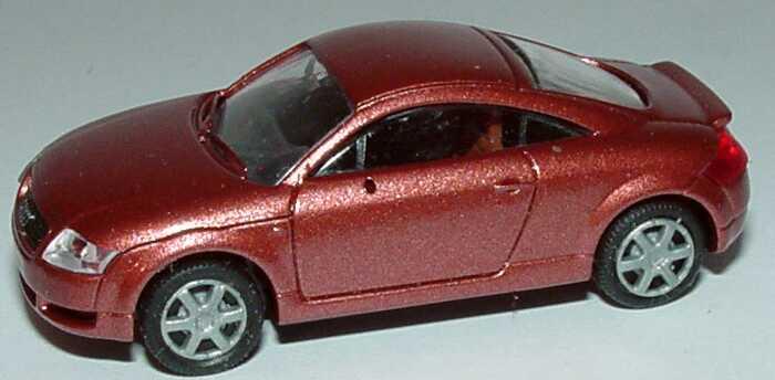 Foto 1:87 Audi TT Coupé (8N) mit Heckspoiler rosérot-met. Rietze 20944