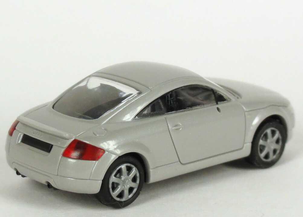 Foto 1:87 Audi TT Coupé (8N) mit Heckspoiler silbergrau-met. Werbemodell Rietze 5019800422