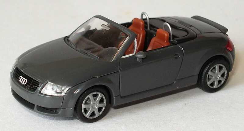 Foto 1:87 Audi TT Roadster (8N) mit Heckspoiler nimbusgrau Rietze 10950